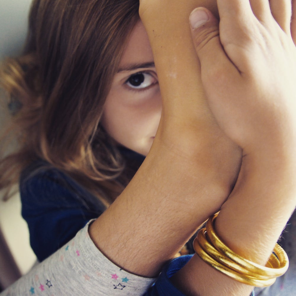 Image of Gold Prayer Bangles- Kids thick & thin