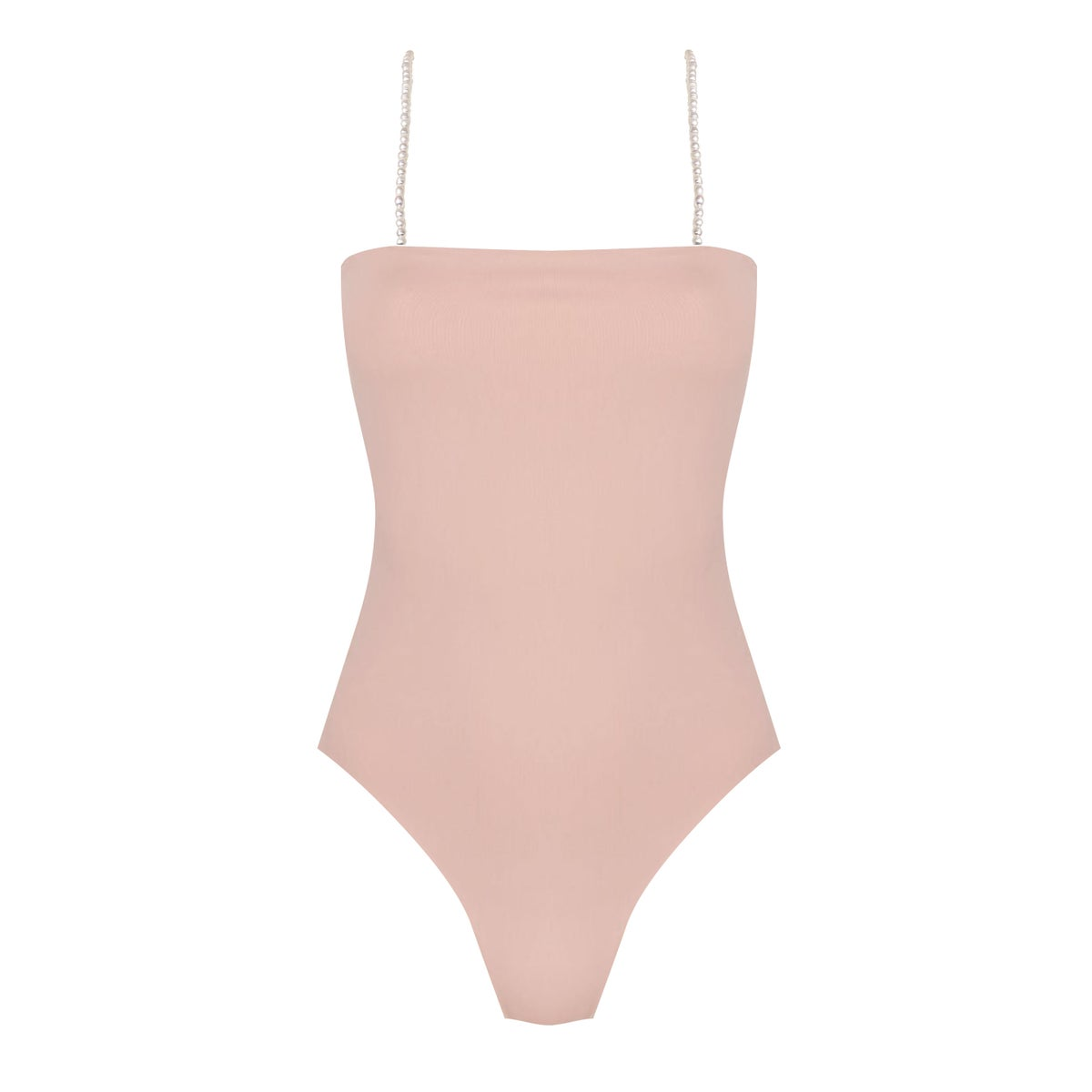 Image of THE CLASSY NUDE PEARLS ONEPIECE
