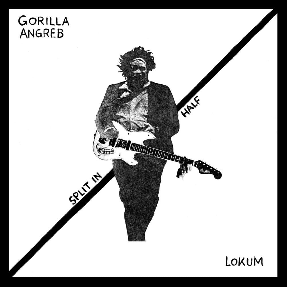 """GORILLA ANGREB / LOKUM """"Split In Half"""" 7"""" EP"""