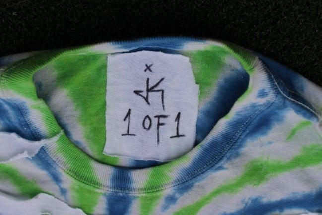 Image of JK 1OF1 DISTRESSED COLLAB JUICE WRLD TOUR SHIRT