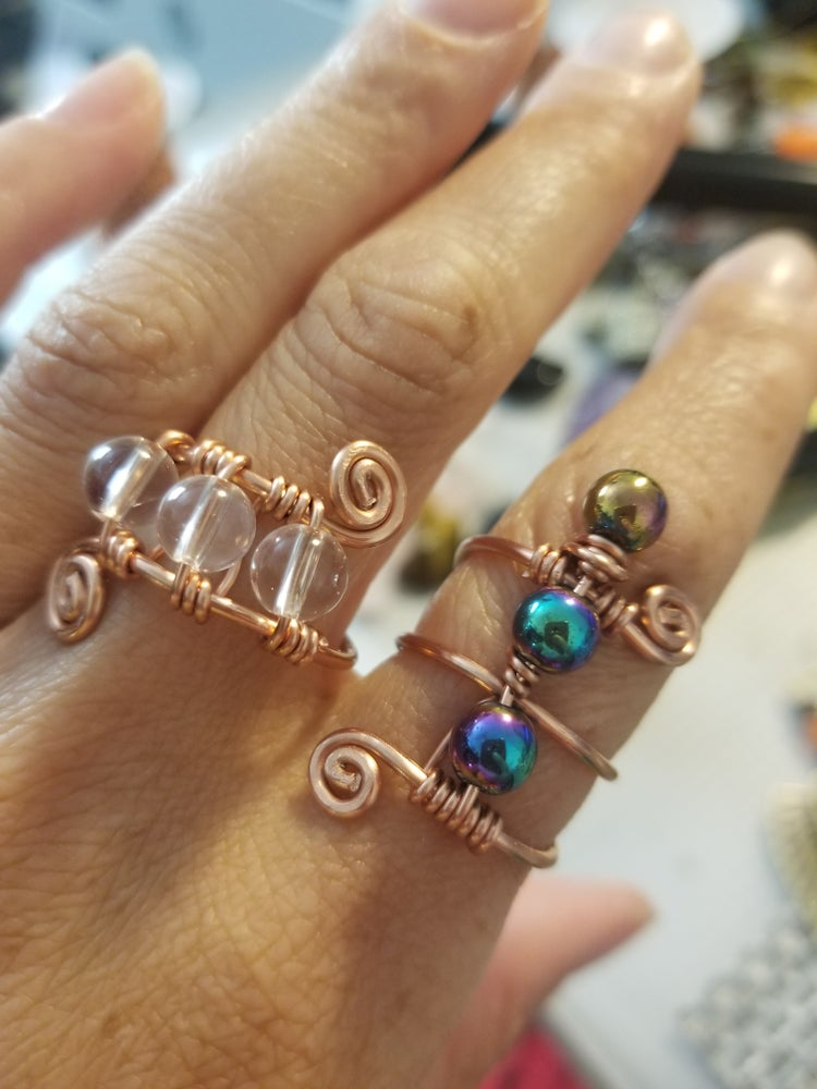 Image of Beaded rings!!