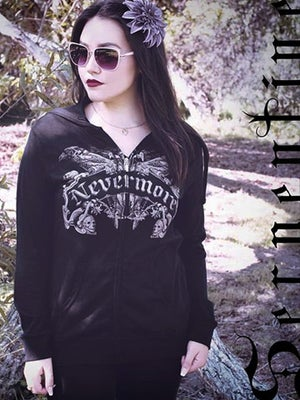 Image of SERPENTINE CLOTHING Nevermore Women's Hoodie
