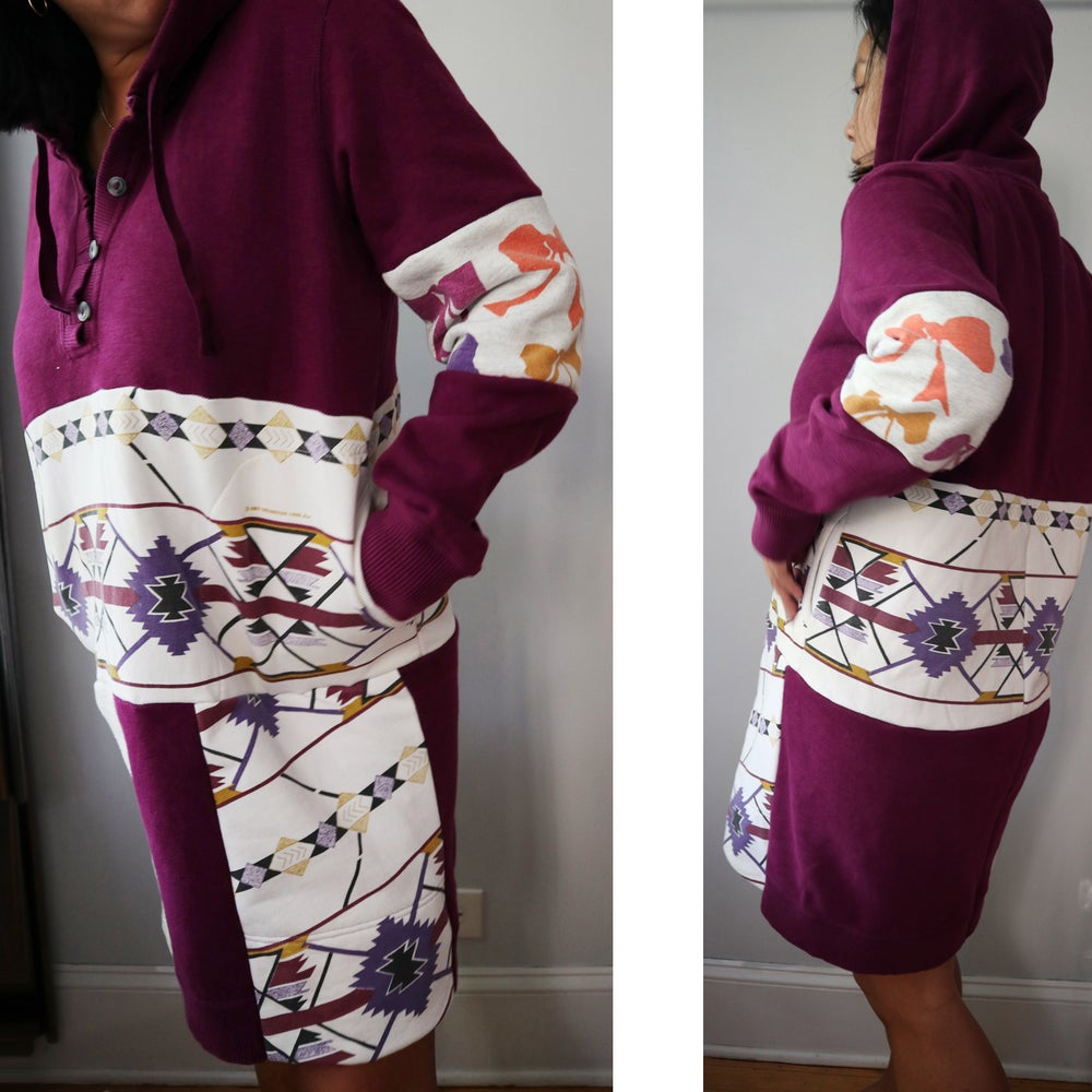 Image of southwestern bows adult tall large L sweatshirt hooded hood hoodie pullover warm thick dress