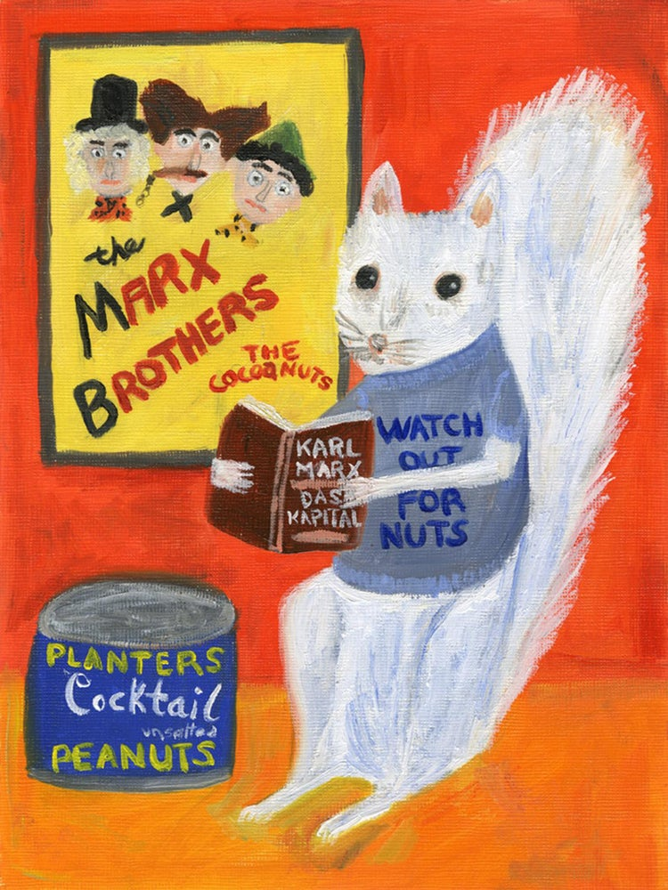 Image of Watch out for nuts! Limited edition print.