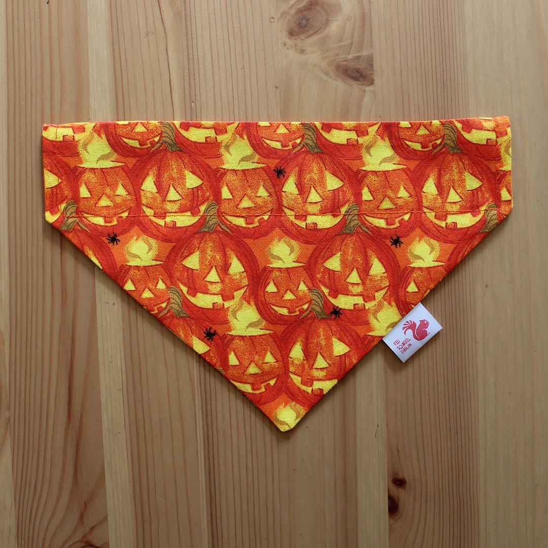 Image of Halloween pumpkins dog & cat bandana