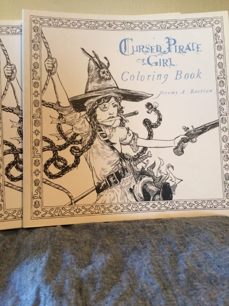 Image of Cursed Pirate Girl Coloring Book