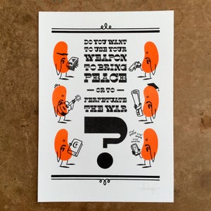 Image of Use Your Weapon Wisely - Risograph Print