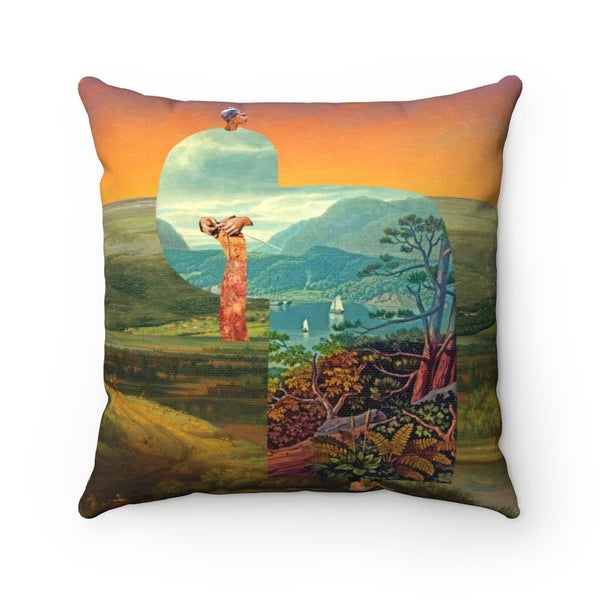 Image of Plate No.371 Throw Pillow