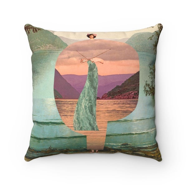 Image of Plate No.380 Throw Pillow