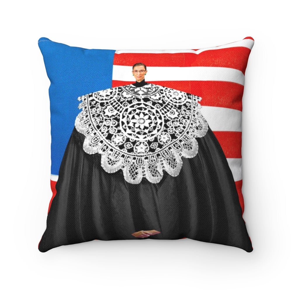 Image of RBG Throw Pillow