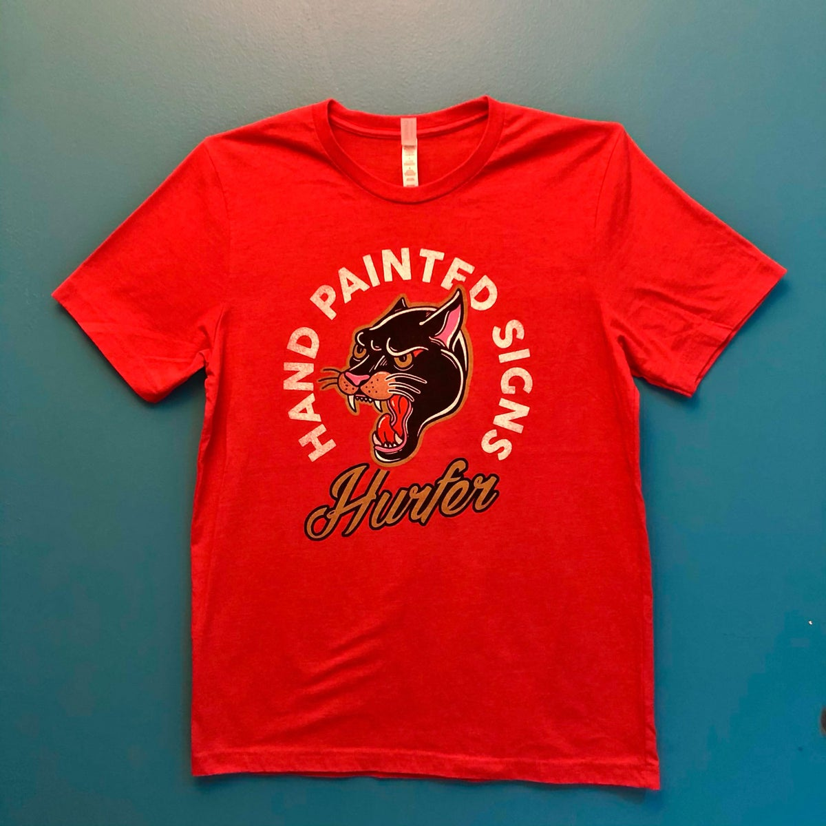 Image of Hurfer Panther T-shirt- Heather Red