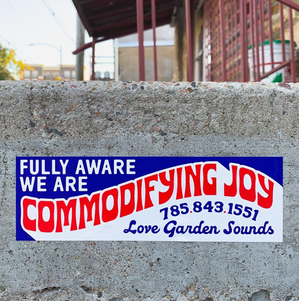 Image of Commodifying Joy Bumper Sticker