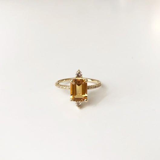 Image of Sparkling Citrine Ring