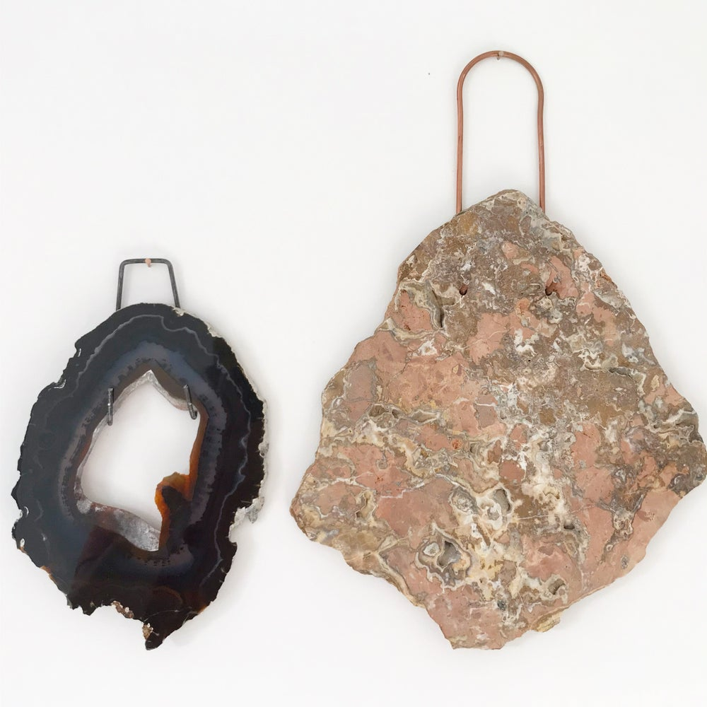 Image of Agate Slab Wall Hanging no.05