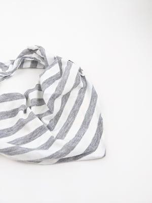 Bibdana *Stripes White+Heather