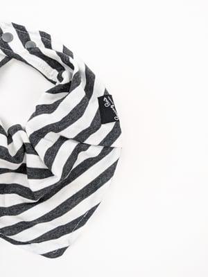 Bibdana *Stripes White+Charcoal