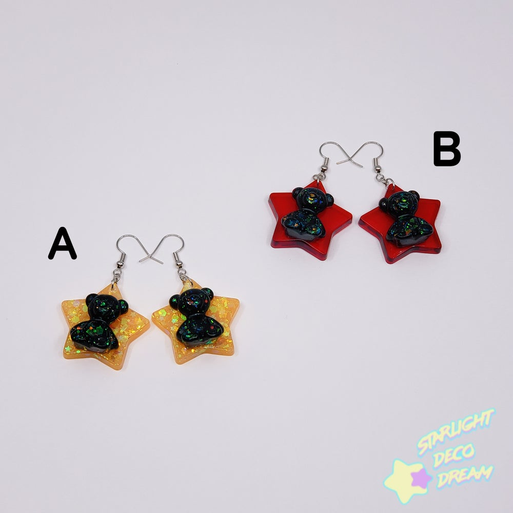 Image of 20% OFF ! Gummi Bear n Stars Halloween Earrings