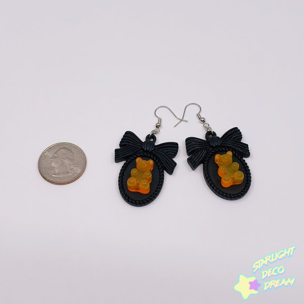 Image of Halloween Candy Bear Cameo Earrings