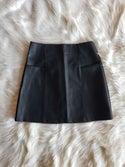 Rebecca Faux Leather Skirt (black)