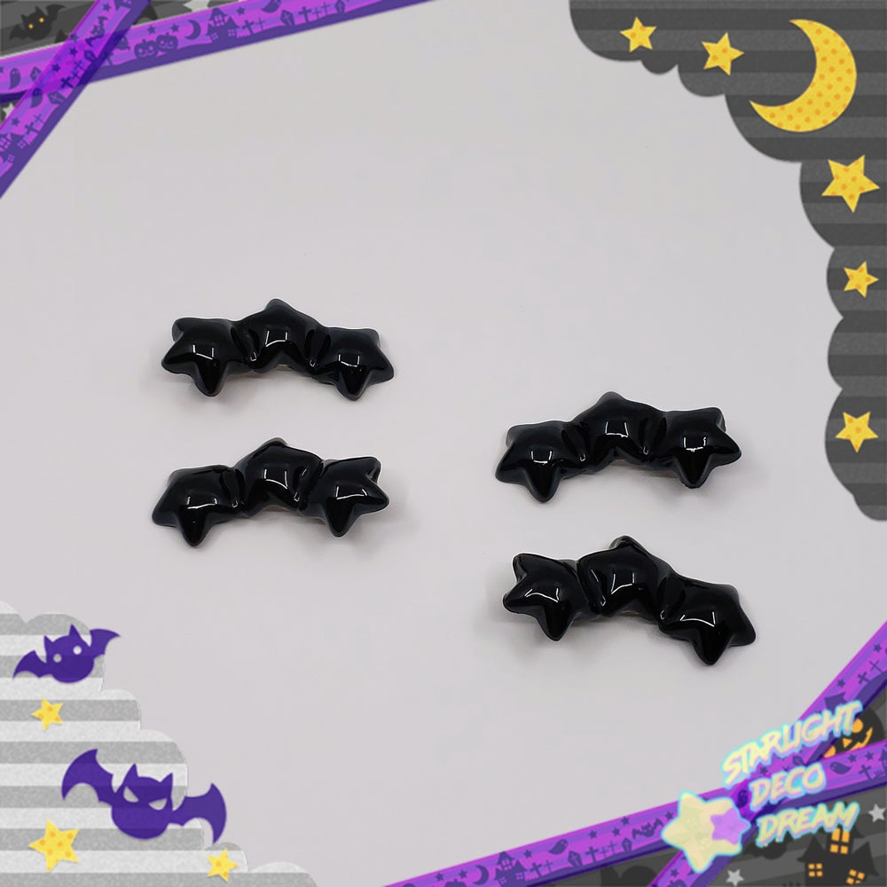 Image of 15% OFF ! Set of TWO Black Tri-Star Clips