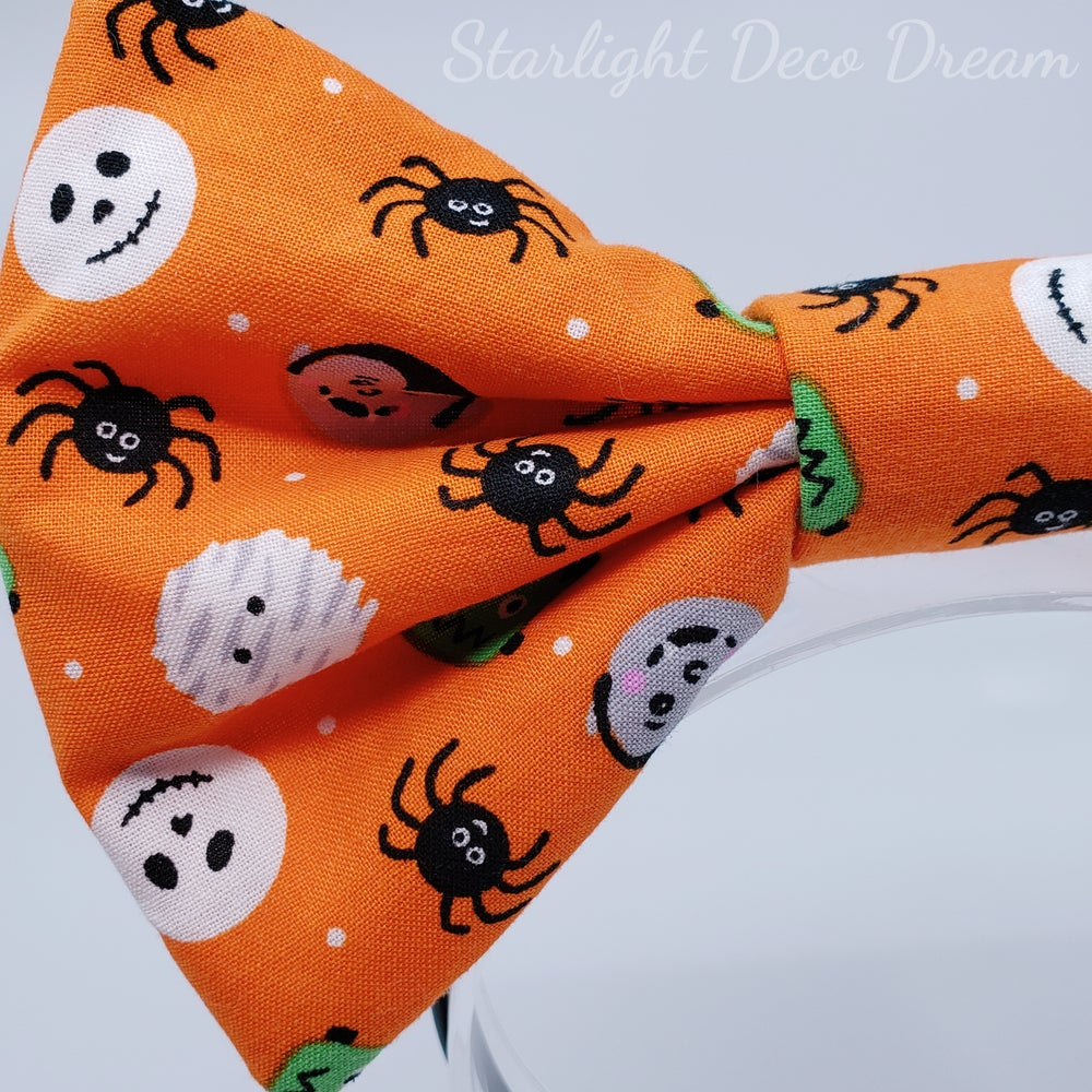 Image of Lil' Monsters Halloween Print Bow / Headband Type B