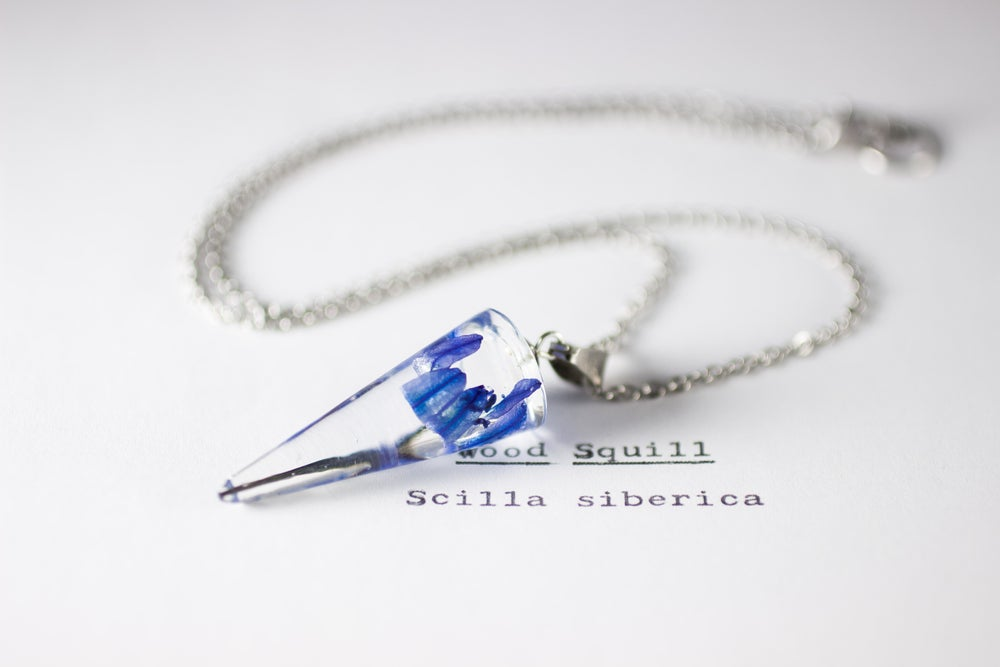 Image of Wood Squill (Scilla siberica) - Conical Pendant #2