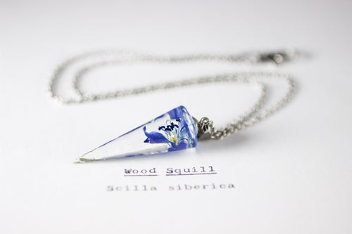 Image of Wood Squill (Scilla siberica) - Conical Pendant #1