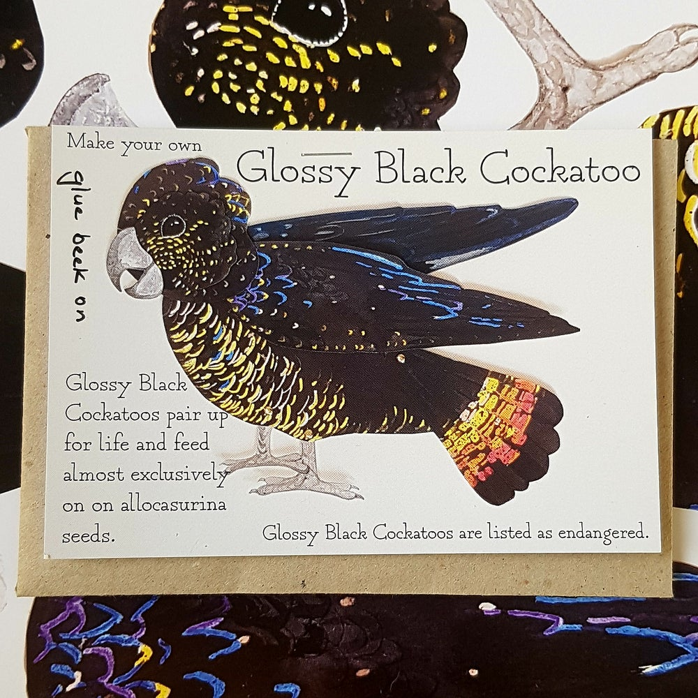Image of Glossy Black Cockatoo Puppet