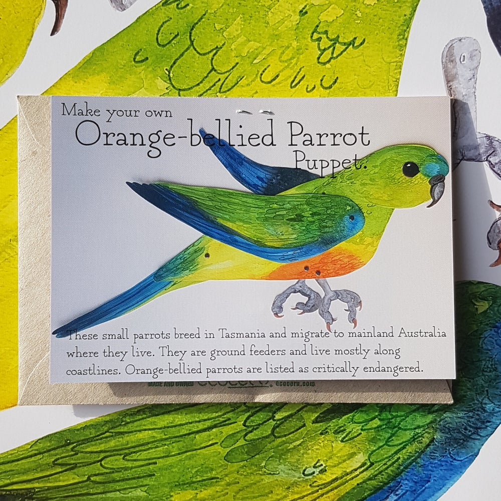 Image of Orange-bellied Parrot Puppet
