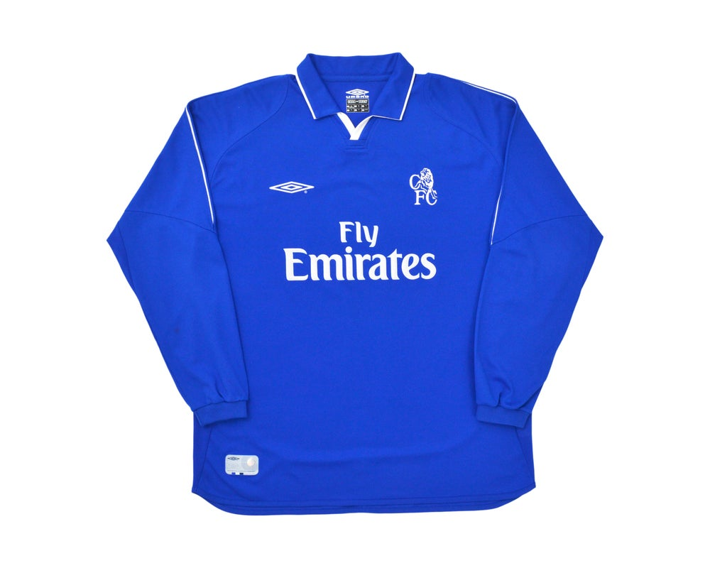 Image of 2001-03 Umbro Chelsea Home Long Sleeve Shirt XL