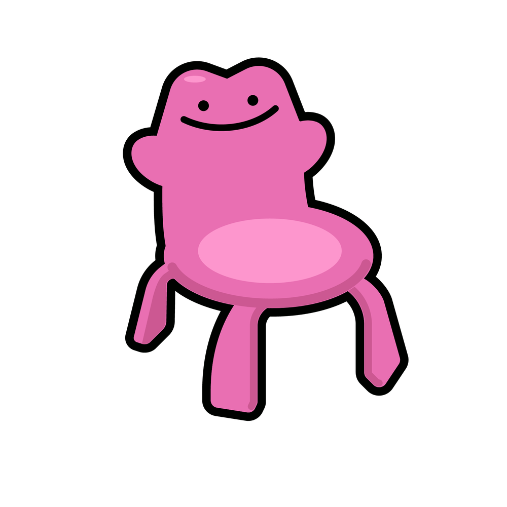 Ditto Chair Enamel Pin