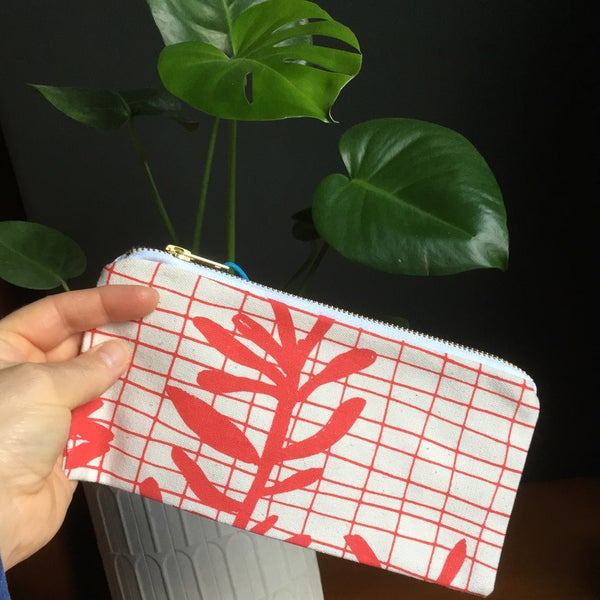 Image of Sprig Grid Pencil Case