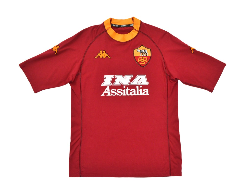 Image of 2000-01 Kappa Roma Home Shirt 'Totti 10' L