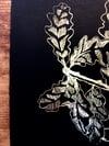 Tinctures, blackbird singing - gold foil screenprint