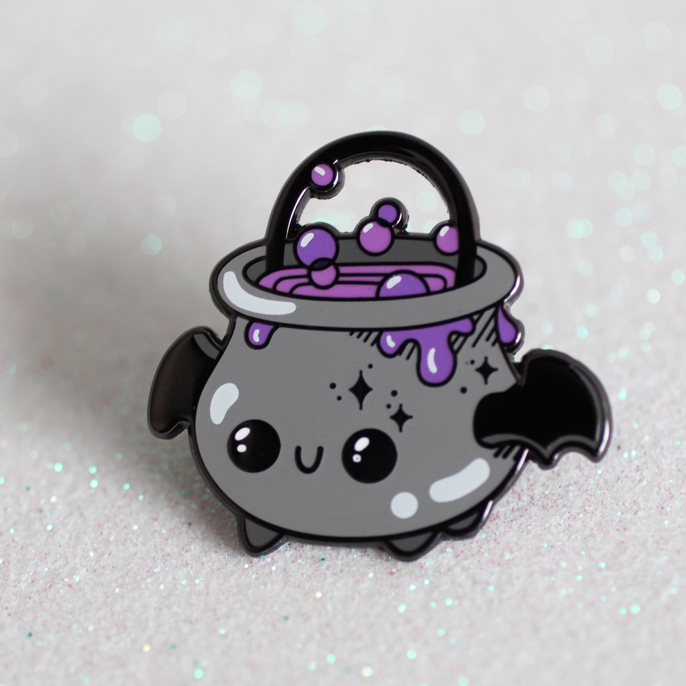 Brewbat - Bubbly Cauldron Enamel Pin