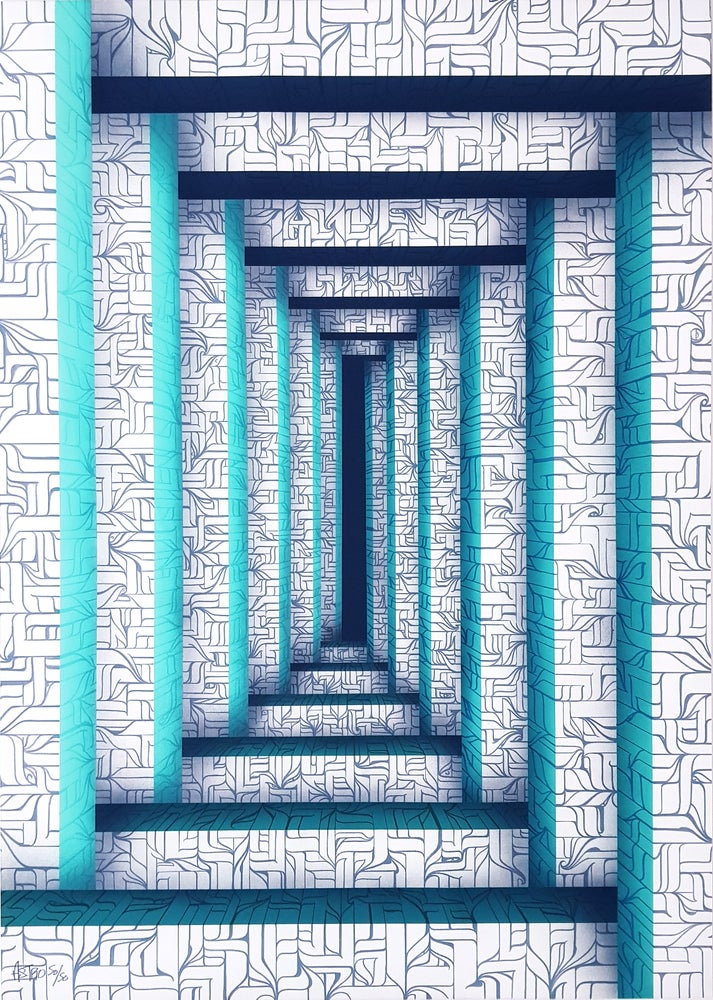Image of columns print