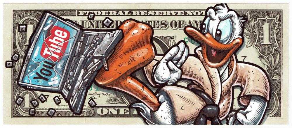 Image of Real Dollar Original. Tech Savvy Duck.