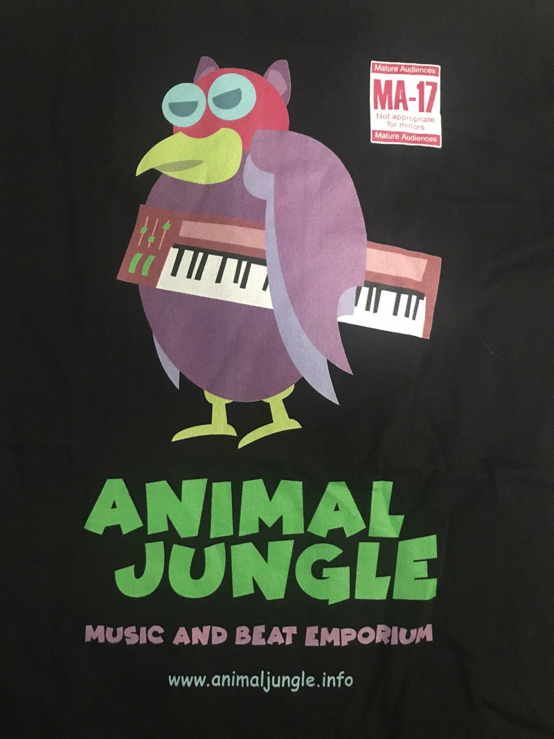 Animal Jungle - Mean Keyboard Bird [Black] - T-Shirt