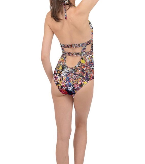 Halter cut out one piece
