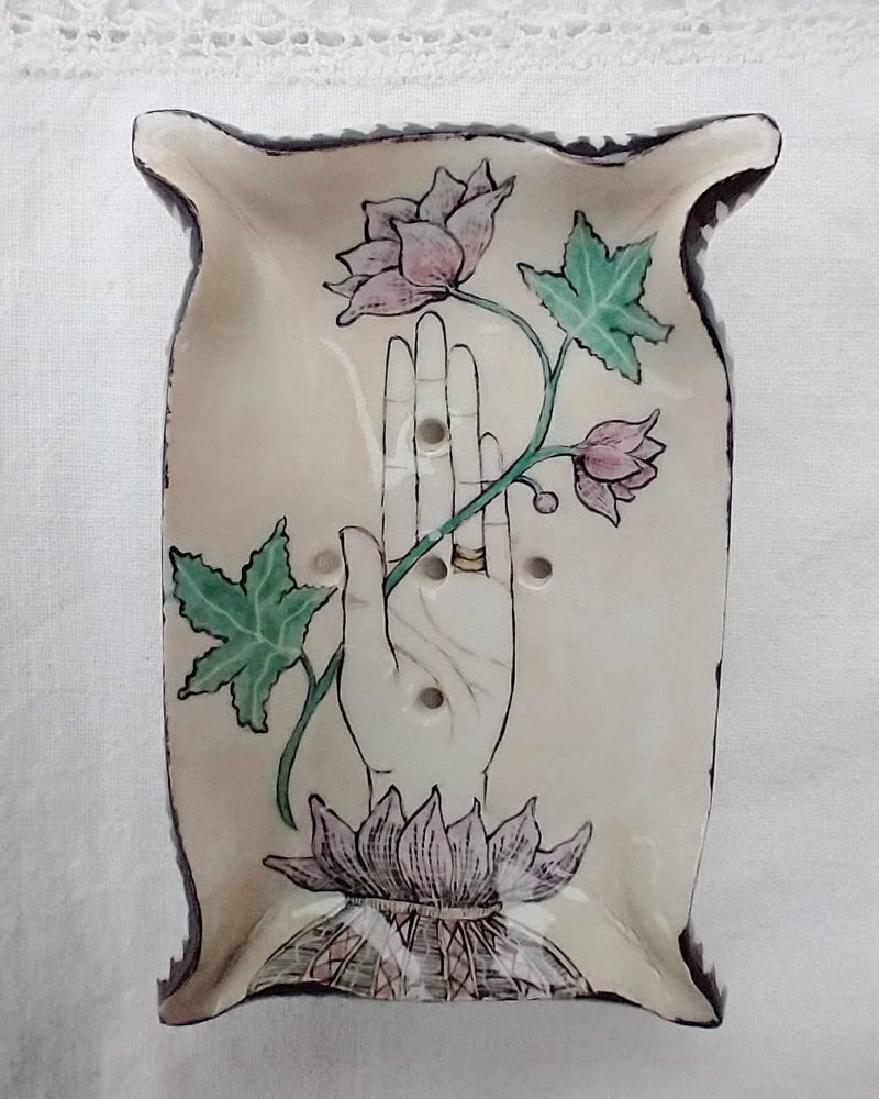 Image of Hand and Flower Soap Dish