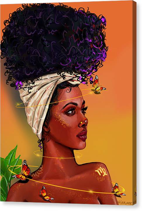 """Image of """"Queen Virgo"""" Limited Edition Canvas Prints"""