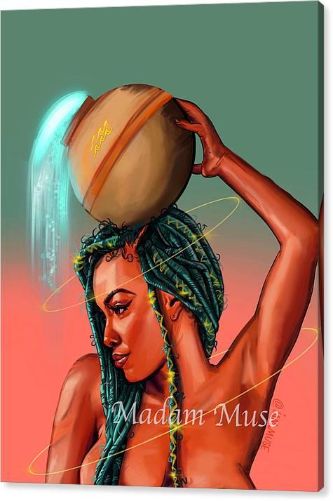 "Image of ""Queen Aquarius"" Limited Edition Canvas Print"