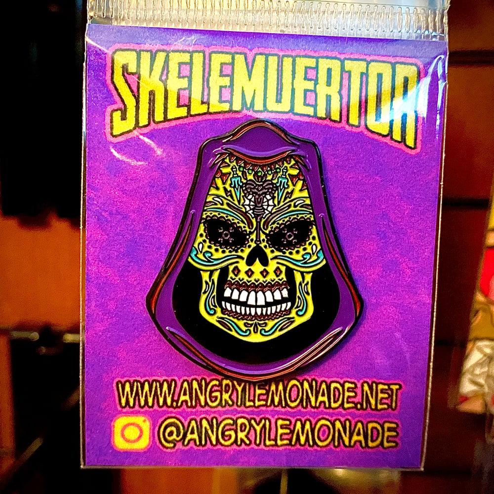 "SKELEMUERTOR<br>1.5"" Soft Enamel Pin"