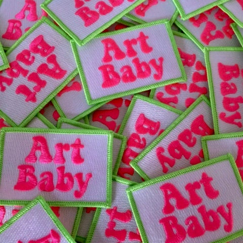 Image of Art Baby Girl Iron Patch