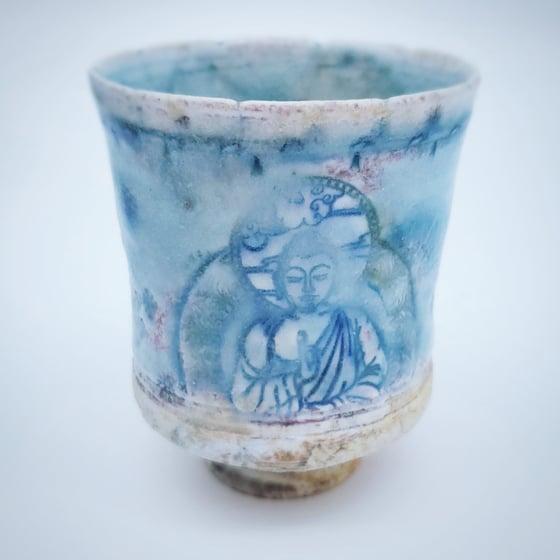 Image of Woodfired Buddha and Lotus Tea Tumbler