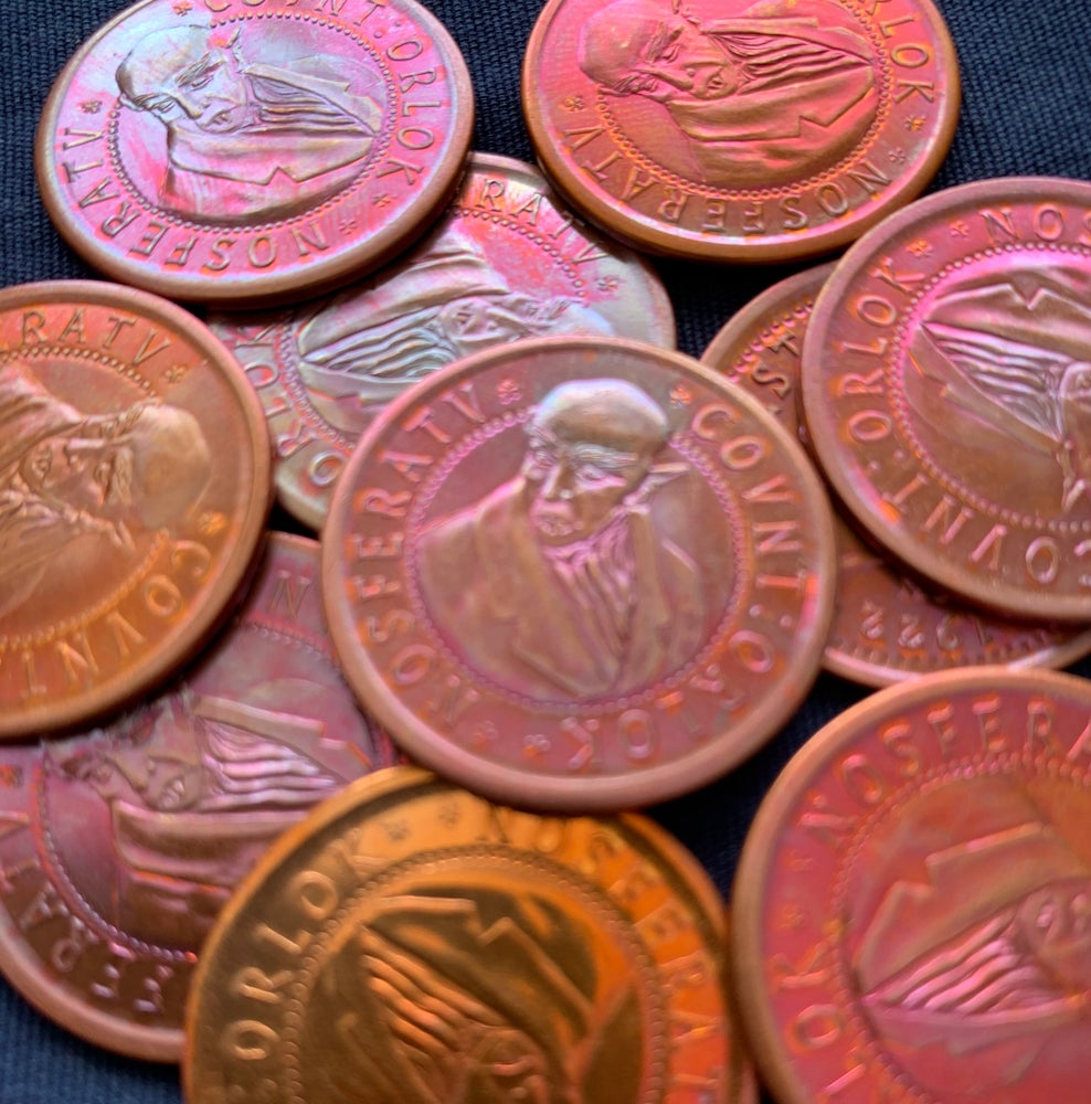 Image of Nosferatu Coin Heat Patina Red/Orange/Purple