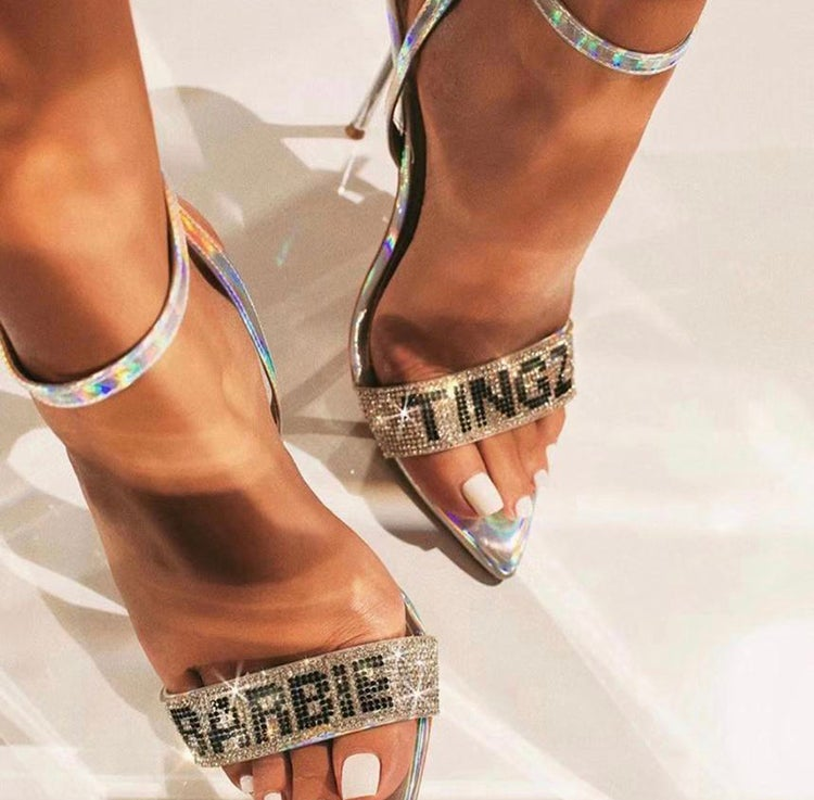Barbie Tingz Holographic Heels