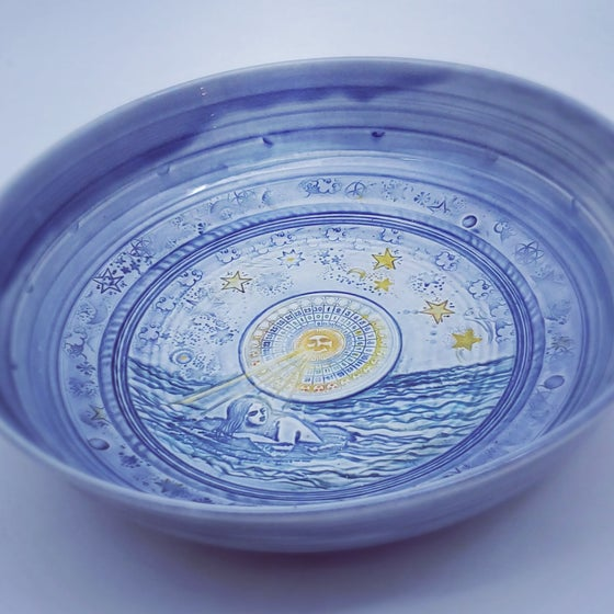 Image of Mermaid Celestial Moonphase Porcelain Bowl