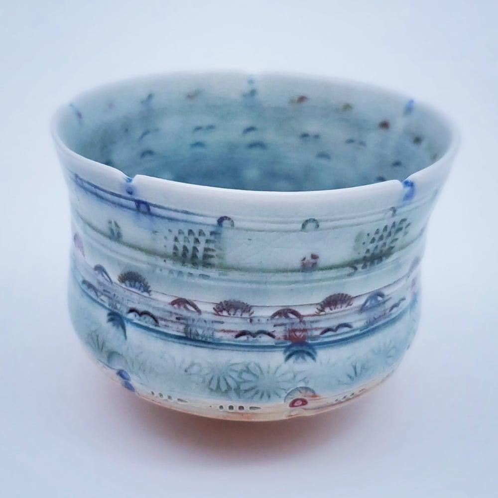 Image of Woodfired Mandala Tea Cup