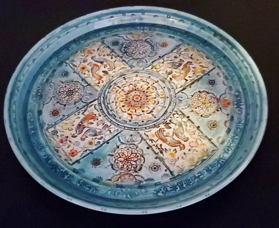 Image of Exotic Bird Porcelain Platter